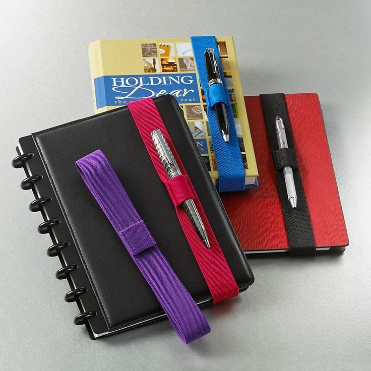 Notebook Belts, Set of 4 - need to DIY these since I don't have a Staples nearby