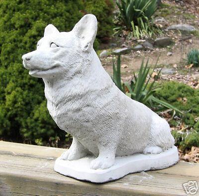 CONCRETE WELSH CORGI PEMBROKE DOG STATUE / MONUMENT | Gift ...