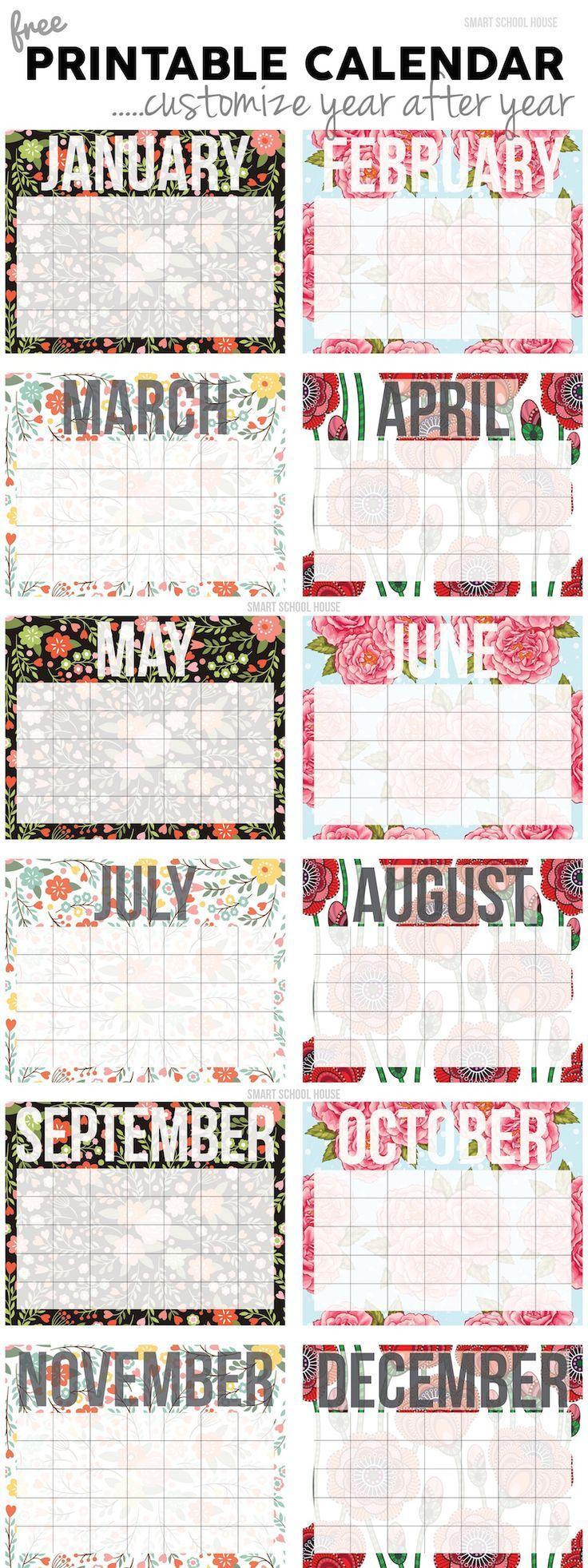2015 free printable calendar: