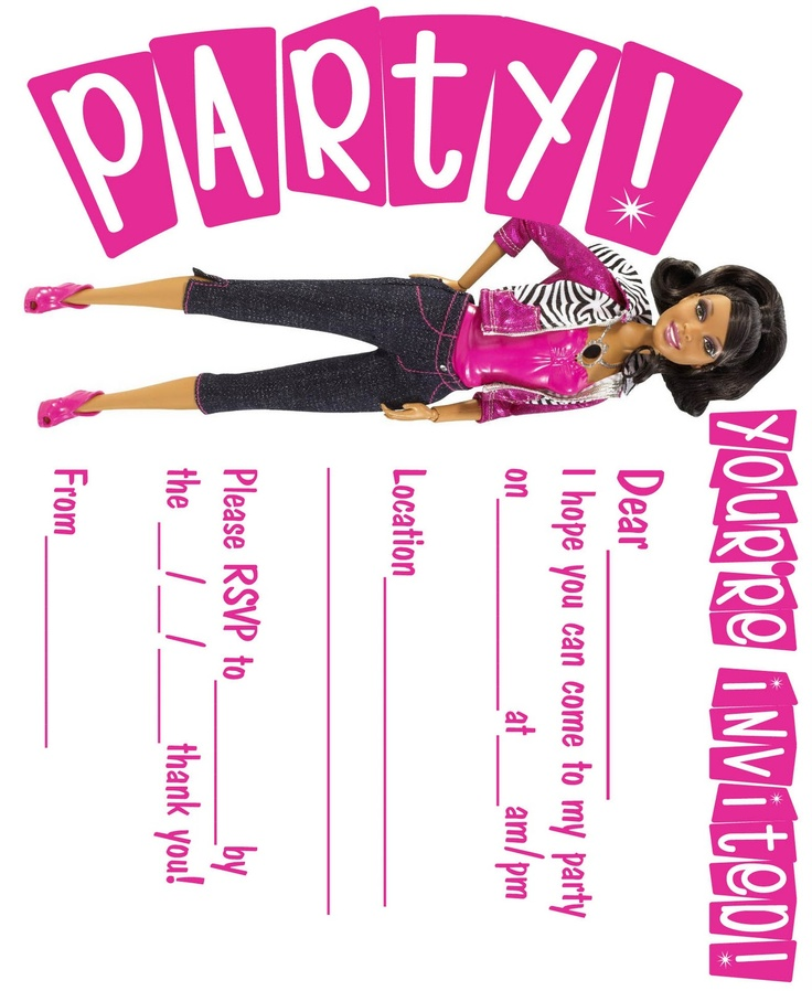 The 25 best Barbie invitations ideas on Pinterest Barbie