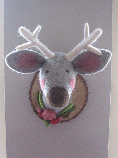 Felted Reindeer Head !!!
