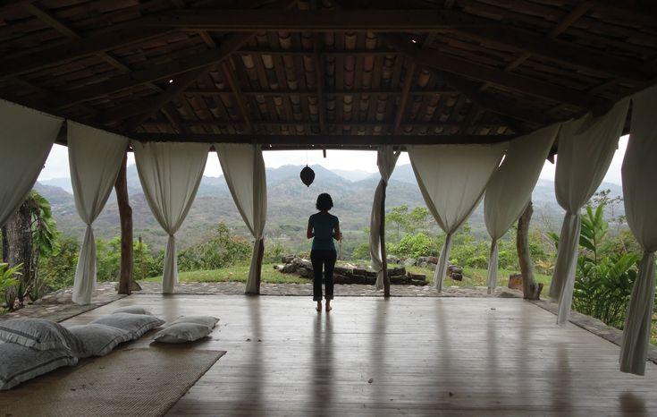 Open air yoga room