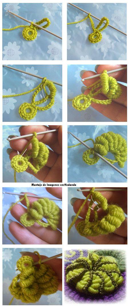 Tutorial Broche de Crochet Retorcido - Patrones Crochet