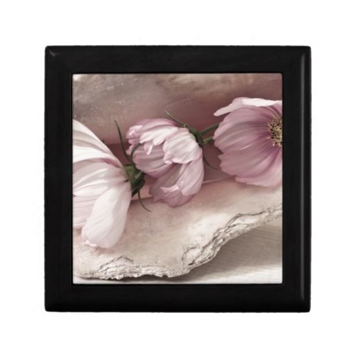 Three Pink Cosmos Jewelry Boxes