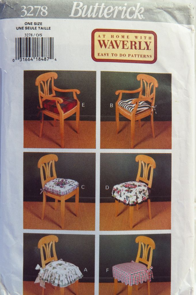 Butterick 3278 Chair Covers