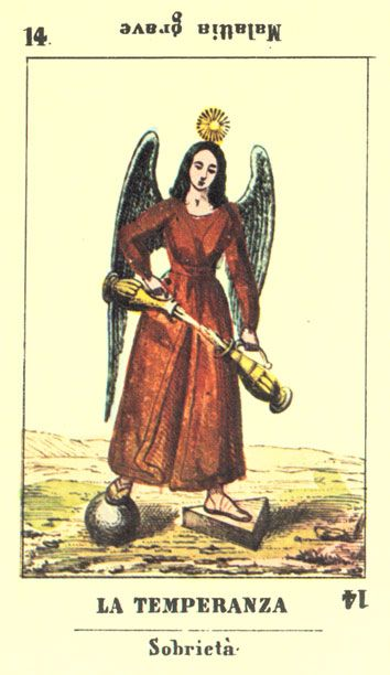 TEMPERANCE - Jeu de la Princesse Tarot deck >>> virtual-fortune-teller.com