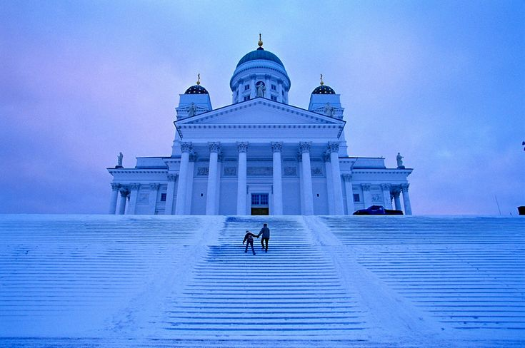 Helsinki Cathedral in a winter mist