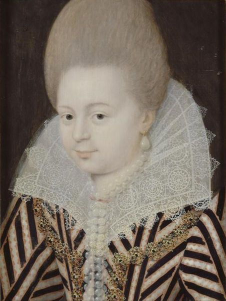 Portrait of Diane d'Andouins, Countess of Guiche. Mistress of French King Henry IV from 1583 to about 1590