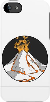 Volcano! iPhone 5s case - by herker $44.94