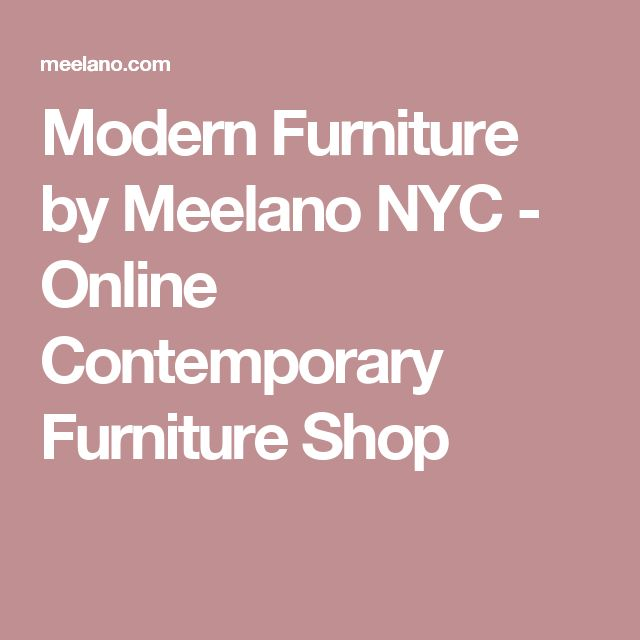 Modern Furniture by Meelano NYC - Online Contemporary Furniture Shop