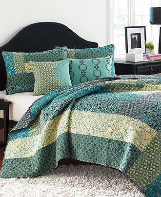 quick an easy quilt... sew strips or big rectangles of fabric together instead of tiny squares.