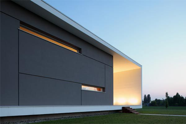 "Italian Home Architecture - Super Minimalist House Design. This Italian home architecture designed by Andrea Oliva from Cittaarchitettura is what we like to call ""modern minimalist"" at its best"