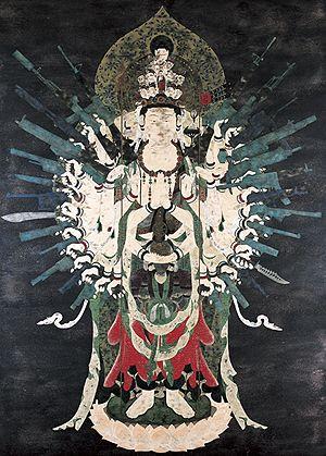 天明屋尚《ネオ千手観音》2002年