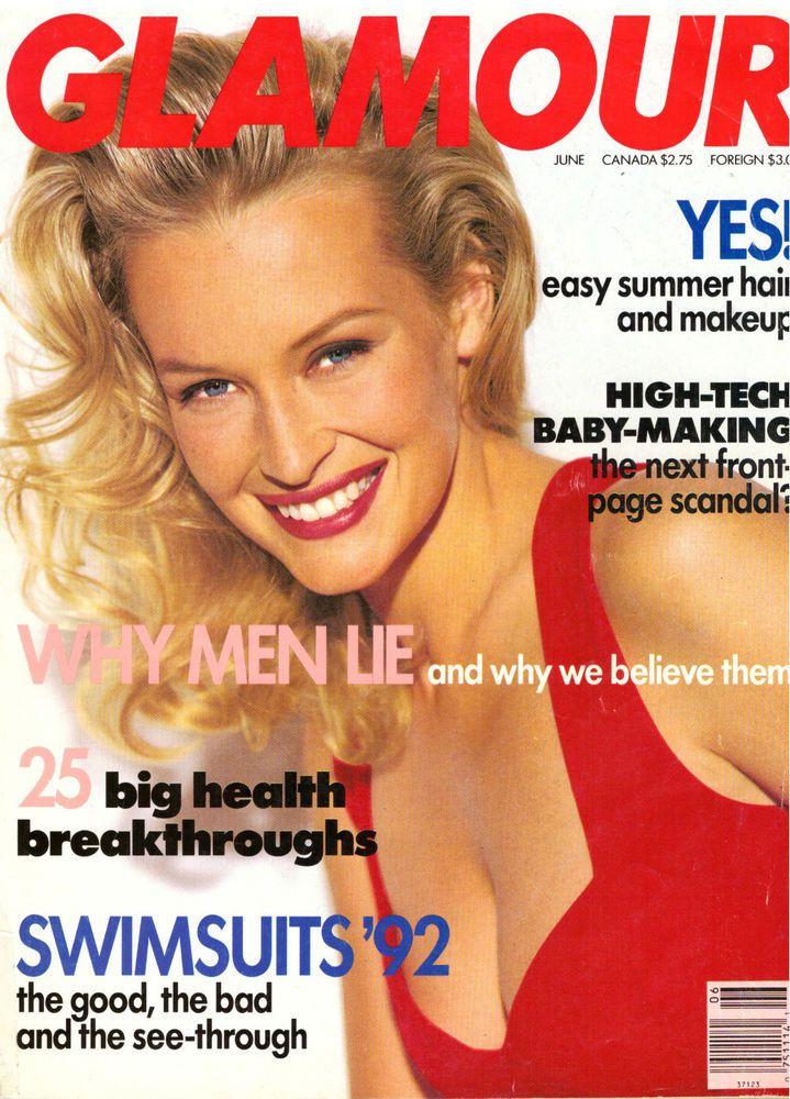 Glamour Magazine 1992 Sigourney Weaver Estelle Lefebure Gay 90s Vintage VTG Ads  | eBay