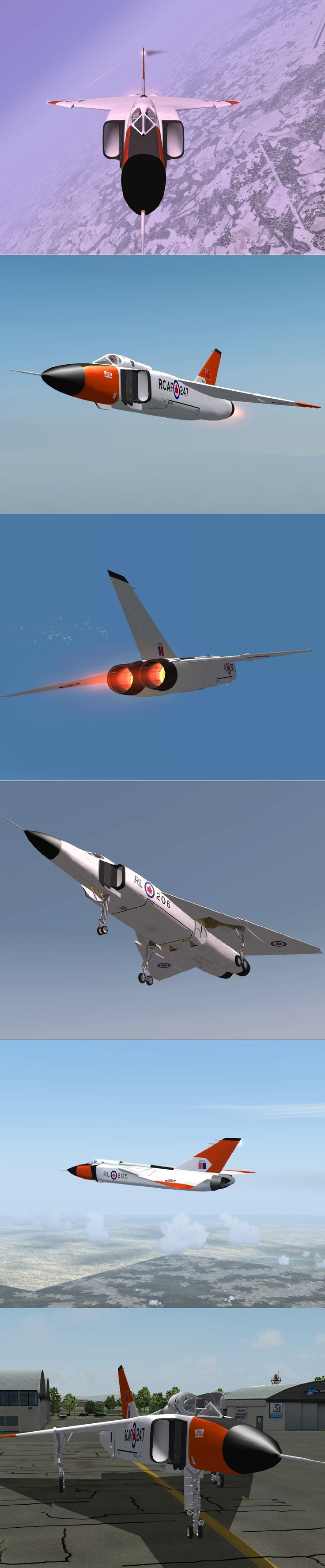 Canada CF 105 Arrow render