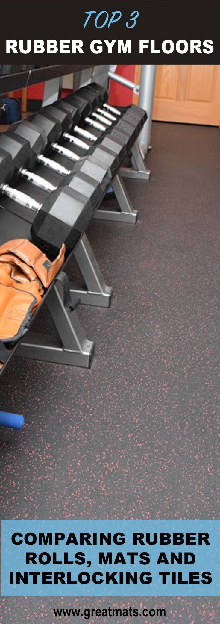 Rubber Flooring Rolls vs. Rubber Stall Mats vs. Interlocking Rubber Tiles for Gym Floors. Learn when and where each is appropriate.
