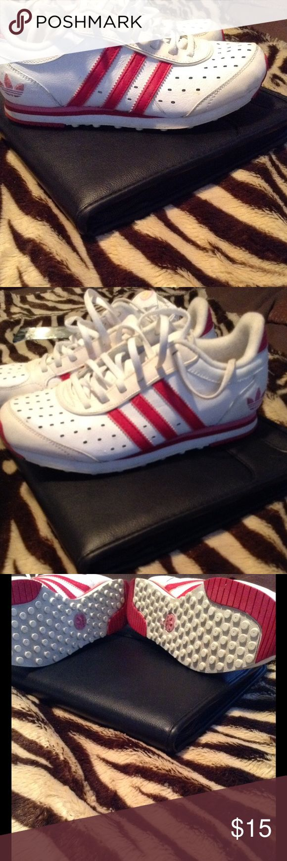 Pink and white adidas walking shoes Great for the mom who likes to walk addidas Shoes Athletic Shoes