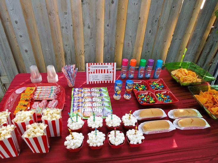 Backyard Drive In Birthday Party