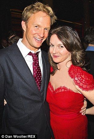 Rupert and his wife Dervla Kikwan in January...