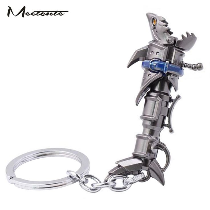 Meetcute Fashion Delicate LOL Jinx Weapon Key Chain for Men and Women Hot Sale Popular Games Bijoux Trinket