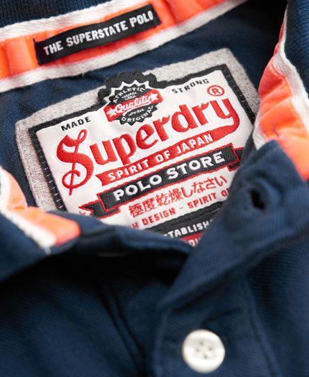 Superdry Super State Pique Polo Shirt Blue