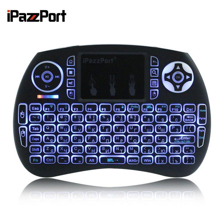 IPazzPort Mini 2.4 GHz Wireless Keyboard QWERTY Hand Held Portátil com Touchpad & Luz de Fundo para PC/Smart TV Caixa de TV/Android em Teclados de Computador & Office no AliExpress.com   Alibaba Group