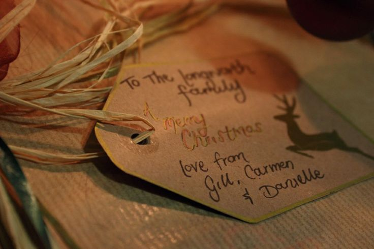 Home-made Gift tag