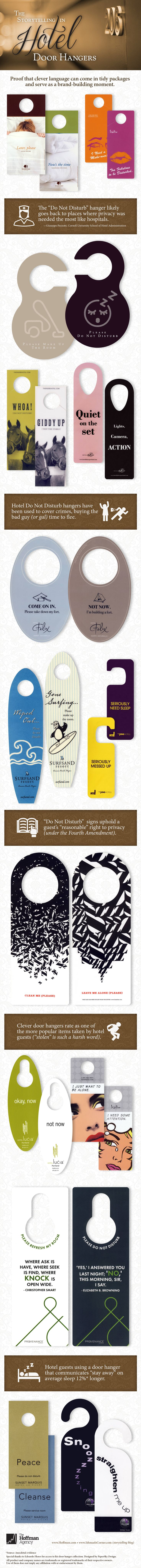 If You Think Twitter is Tight Quarters, Try Storytelling in a Door Hanger #infographic #Twitter #Marketing