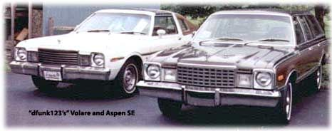 Plymouth Volare station wagon with Dodge Aspen SE coupe
