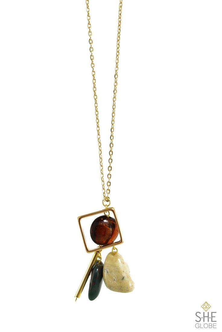 Celia Necklace - semi-precious stone | Shop the collection online. Sheglobe.com  #earring #bracelet #style #semiprecious #gemstones #gemstonejewelry #pearls #artisan #handmadejewelry #modern #classy #torontodesigner #design #designer  #fashionista #torontomade #madeintoronto #yyz #torontoevents #to #torontofashion #jewelrydesign #jewelrydesigner #handcrafted #handcraftedjewelry   #style #sheglobe #style #classic