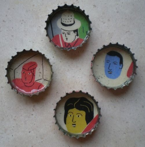 frame: Bottle Caps, Beer Cap, Bottlecap Magnets, Magnets Tutorials, Head Of Garlic, Gifts Ideas, Recycled Bottles, Recycled Art, Bottle Cap Magnets