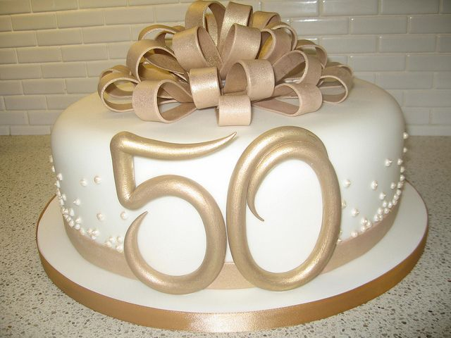 50th Wedding Anniversary Cake By Stacey S Cakes Via Flickr