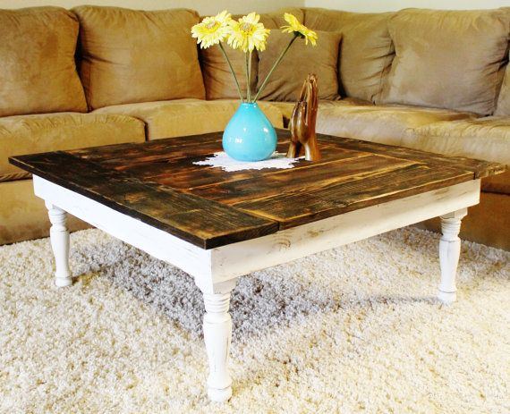 rustic farmhouse coffee table 3