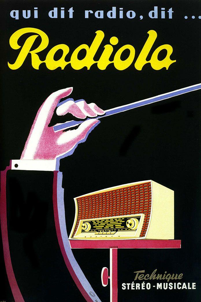 Radiola- illustration de Bernard Villemot - 1960