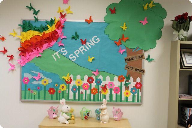 It S Spring Reading Bulletin Board Display Classroom