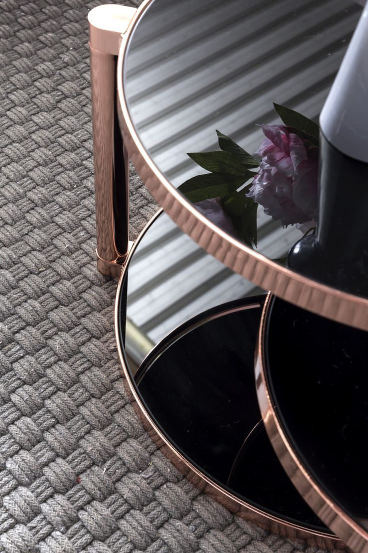 Residential Coffee Table Wl5 243 Gl With Copper Frame