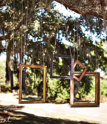 Picture Frames Will Hang From The Tree For A Unique Photobooth Reception Ideas In 2018 Wedding Photo Booth Decorations