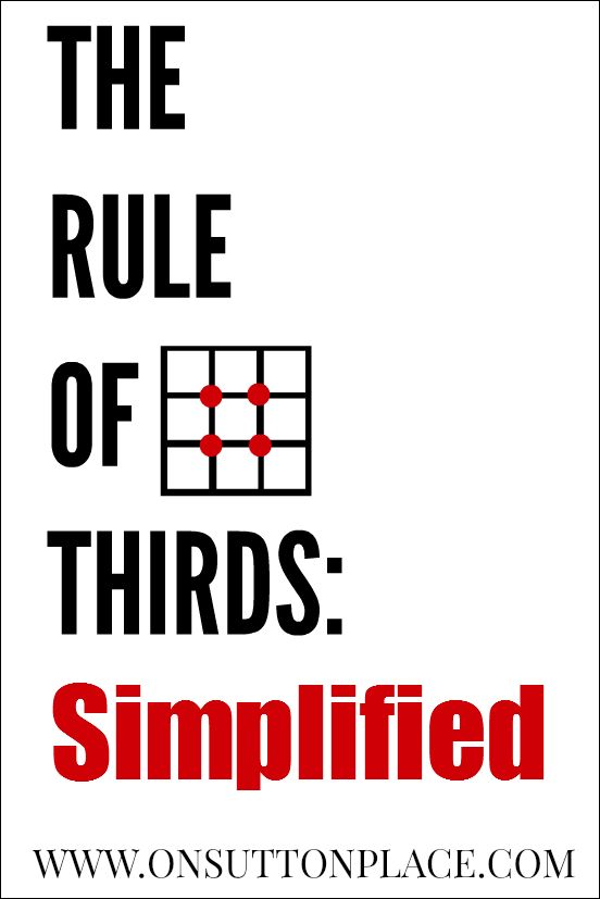 Simplified explanation of The Rule of Thirds for beginner photographers. Very easy to understand with example photos.