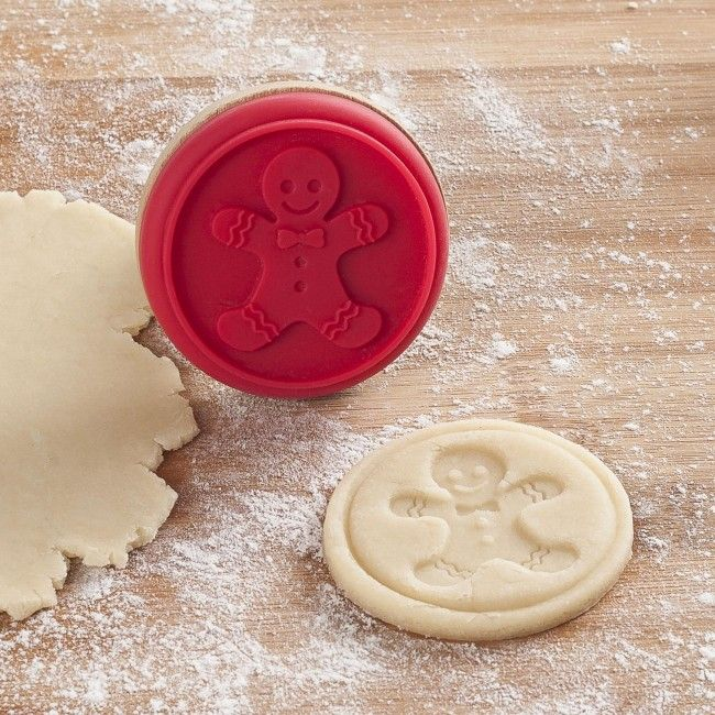 Add a little extra Christmas to your cookies with a Silicone Cookie Stamp. Just gently press the shape into your cookie dough before you bake.