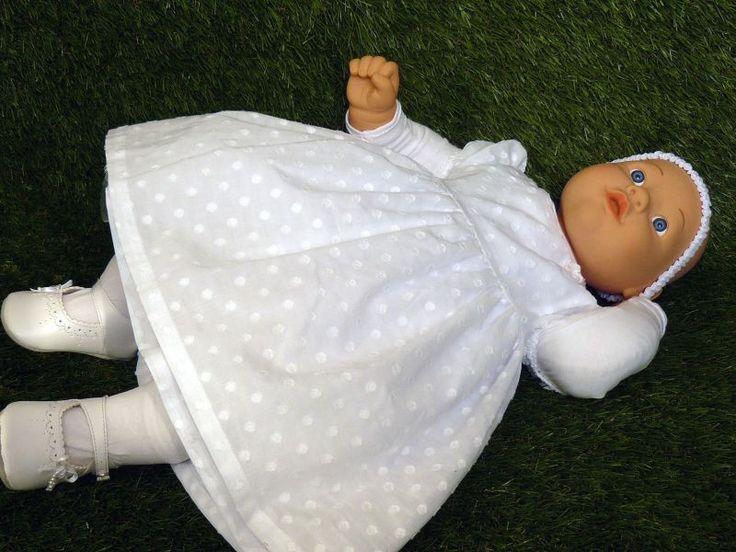 OLIVIA śliczna bawełniana sukienka do chrztu r 74 - cottonfun - Sukienki do chrztu