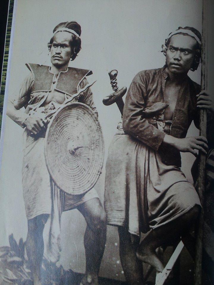 Balinese warriors in battle dress 1880s