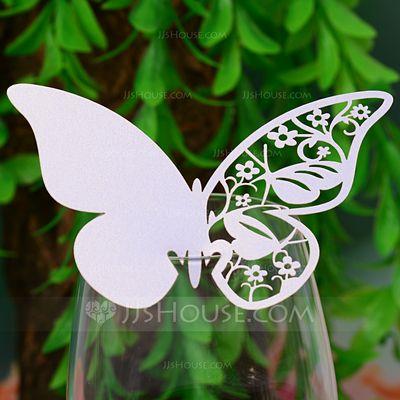 Schmetterlings Entwurf Perlenpapier Tischkarten (Satz von 12) (131037412)