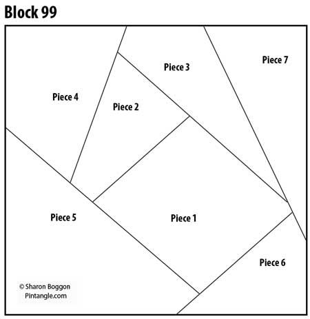 Crazy Quilt Block 99 pattern                                                                                                                                                                                 More