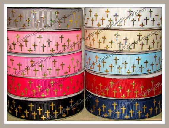 New 1 2 3 4 5 Yards 7/8 Religious Gold  Laser by WhimsyRibbonShop