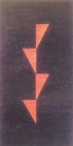 Triângulos vermelhos em tangência, década de 1970 Alfredo Volpi
