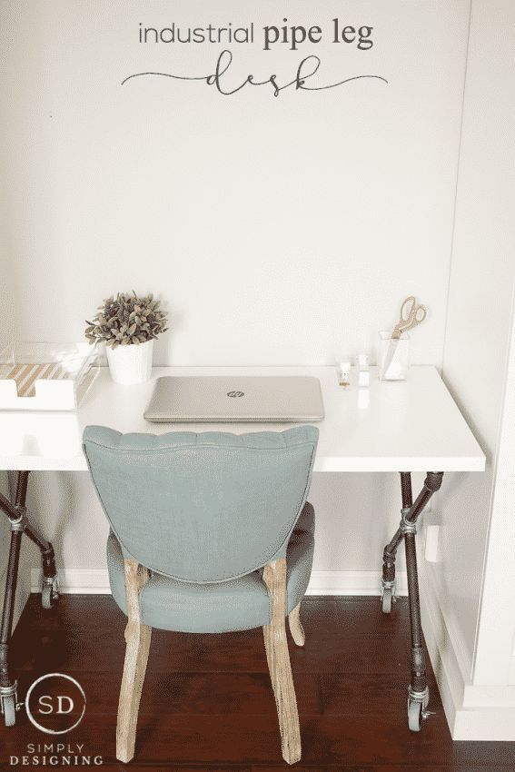 DIY Industrial Pipe Leg Desk: Handwerksraum: Teil 7 – #craft #desk #DIY #industrial #leg #Par …