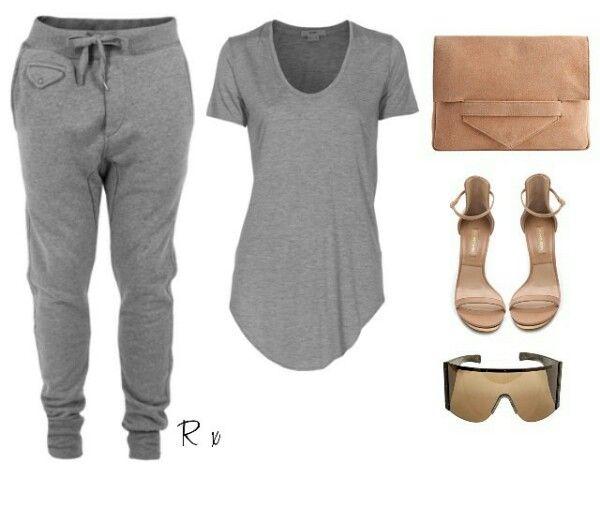 Styledbyrima / Top Philliplim, Sunglasses Rickowens, Sweatpants Diesel, Heels MK