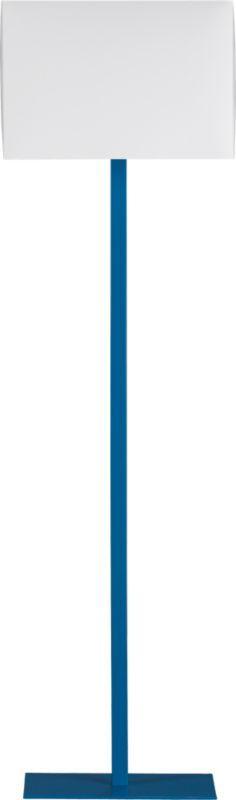 john peacock blue floor lamp  | CB2