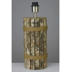 Lampvoet cilinder Ø13xH28 cm BERK hout naturel - configurable