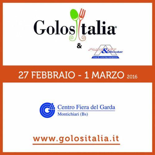 Presso il Centro Fiera del Garda di Montichiari dal 27 febbraio al 1 marzo 2016 si tiene la fiera GolosItalia & Aliment 2016 @gardaconcierge